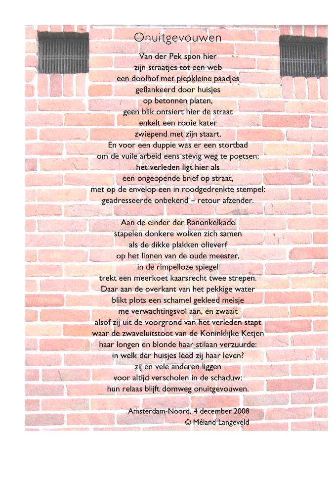 opmaak gedicht muur